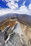 Vertical do Grande Muralha de China imagens de stock royalty free