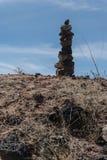 Vertical do monte de pedras da rocha ao longo da autoestrada estadual nove no sudoeste New mexico fotos de stock royalty free