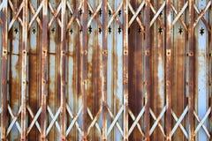 Vertical door rust Royalty Free Stock Image