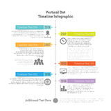 Vertical Dot Timeline Infographic Royalty Free Stock Photo
