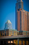 Vertical downtown Austin Texas Skyline View Royalty Free Stock Photography