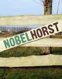 Vertical dzielnica miasta wejściowy Nobelhorst, Almere - Hout - Fotografia Stock