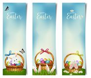 Vertical Easter holiday banners. Vector royalty free stock photos