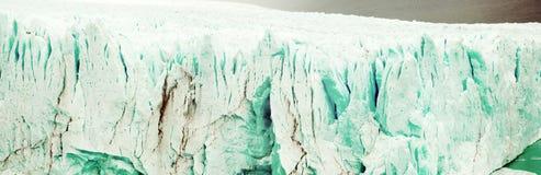 Vertical edge of glacier Perito Moreno Stock Images