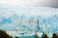 Vertical edge of glacier Perito Moreno. Steep slope of glacier Perito Moreno Glaciar Perito Moreno located in national park Los Glyacious. Patagonia, Argentina royalty free stock image