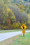 Vertical Elk Crossing Traffic Sign Royalty Free Stock Photos