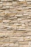 Vertical empilada del fondo de la pared de piedra Foto de archivo libre de regalías