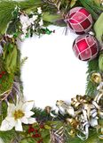 Vertical empty christmas frame. Empty christmas frame for your pictures or writing Royalty Free Stock Images
