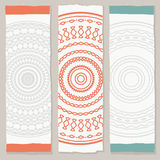 Vertical ethnic banners. Three vector banners in tribal style Royalty Free Stock Photo