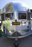 Vertical exterior view of vintage Airstream Trailer Stock Images