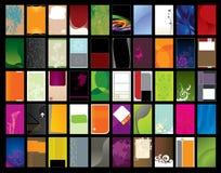 vertical för affärskort stock illustrationer