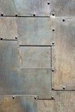 vertical för dörrmetallpanel Fotografering för Bildbyråer