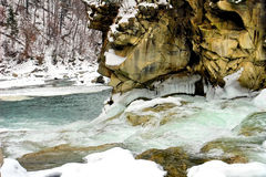 vertical för flod för panorama för berg för 3 hdrbilder Royaltyfri Foto
