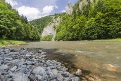vertical för flod för panorama för berg för 3 hdrbilder Arkivfoton