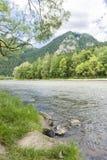 vertical för flod för panorama för berg för 3 hdrbilder Royaltyfri Fotografi
