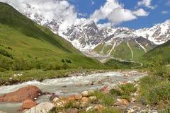 vertical för flod för panorama för berg för 3 hdrbilder Arkivbilder