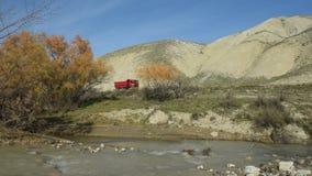 vertical för flod för panorama för berg för 3 hdrbilder stock video