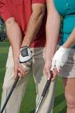 vertical för golfaregripövning Royaltyfri Bild