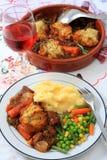vertical för stew för nötköttbunkeserving royaltyfria foton
