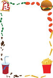 Vertical Fast Food Frame Royalty Free Stock Photos