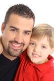 Vertical feliz do pai e do filho Fotos de Stock