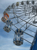 Vertical ferris wheel with bluesky background Royalty Free Stock Images