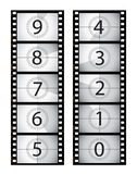 Vertical film countdown Royalty Free Stock Photo