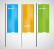 Vertical flags Royalty Free Stock Photos