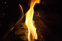 Vertical flame Stock Photo