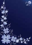 Vertical floral background. Blue Royalty Free Stock Images