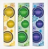 Vertical Floral Banner Stock Image