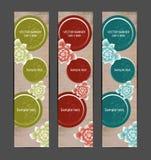 Vertical Floral Banner Stock Images