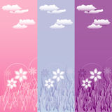 Vertical floral banners Stock Photo