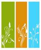 Vertical floral banners Stock Photos