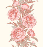 Vertical floral seamless pattern. Royalty Free Stock Image
