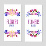 Vertical Flower Banners stock photo