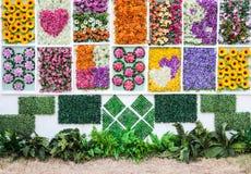 Vertical flower garden stock photography
