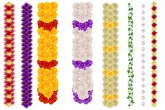 Vertical flower garland for indian holiday ugadi and wedding royalty free illustration