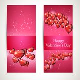 Vertical Flyers with greetings. for Valentines Day. Vector Stock Images