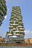 Vertical Forest apartment building in the Porta Nuova area of Mi Royalty Free Stock Photography
