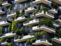 Vertical forest buildings in Milan, May 2015 Stock Images