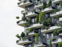 Vertical forest buildings in Milan, May 2015 Stock Image