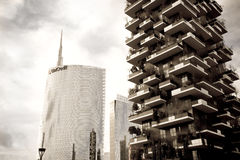 Vertical Forest, Milan, Italy Royalty Free Stock Image