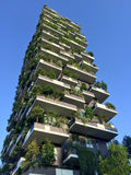 Vertical Forest, Milan, Porta Nuova skyscraper residences, Italy, April 15, 2016. Royalty Free Stock Photo