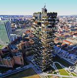 Vertical Forest, Milan, Porta Nuova skyscraper residences, Italy Royalty Free Stock Images