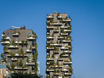 Vertical Forest Towers in Milan, Italy Stock Photo