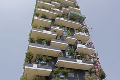 Bosco verticale milan,milano 2014 international highrise award. Vertical forrest,milan,building the new milan skyline Royalty Free Stock Photography