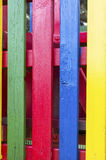 Vertical four colored laths Royalty Free Stock Photography