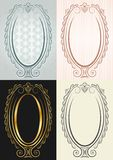 The vertical frame in antique style. Oval Stock Photography