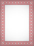 Vertical frame - cross stitch Ukrainian ornament Stock Photography